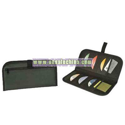 Leatherette deluxe CD visor organizer