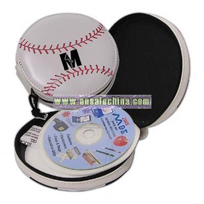 PVC baseball shaped CD holder