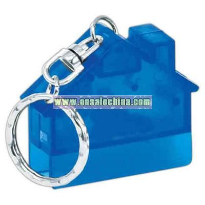 House Shape CD opener key chain