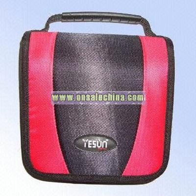 Two-tone Color CD Wallets Made of 800D Polyester