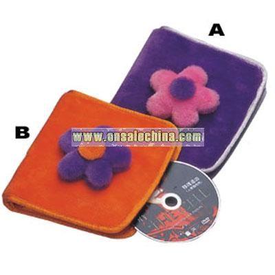 Plush Square CD Wallet