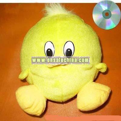Plush Duck Shape CD Bag