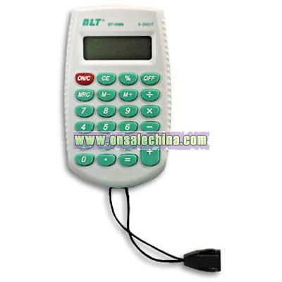 8-digit Promotional Calculator with Lanyard