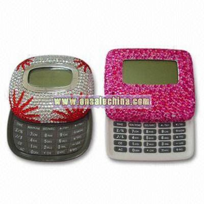 Calculator with Rhinestone Beaded