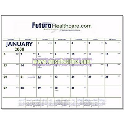 Custom Two-Color Desk Pad Calendar