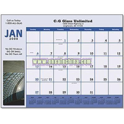 Custom Four Color Desk Pad Calendar