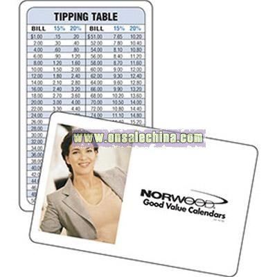 Wallet Card Calendar