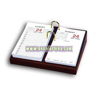 Leather standard calendar holder