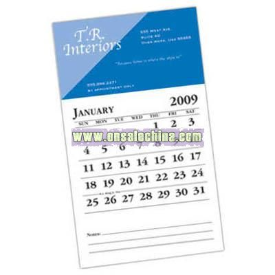 Business card magnet with calendar combination