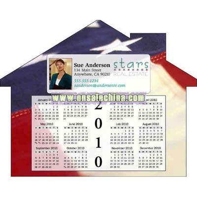 house shape magnet calendar