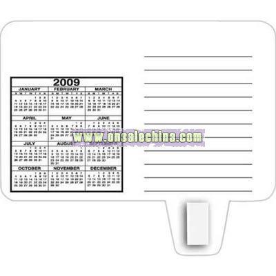 magnetic memo board with calendar
