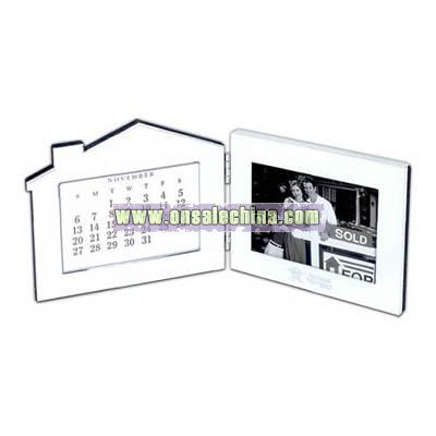 Fold up photo frame and perpetual calendar