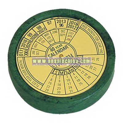 Green marble 40 year calendar