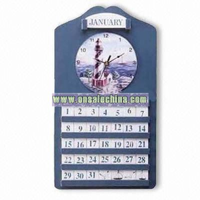 Desktop Calendar with Clock