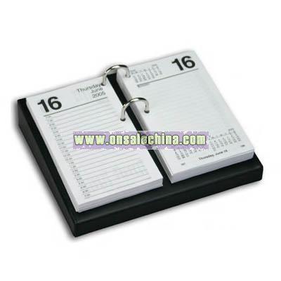 Black leather standard calendar holder