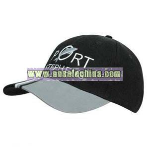 Tri Colour Peak Cap