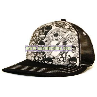 Skullz Flat Bill Trucker cap