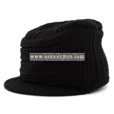 Cable Knit Military cap