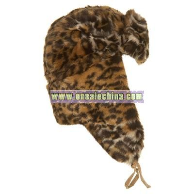 Leopard Fur Trapper Hat