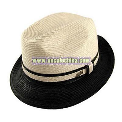 Braided Fedora hat
