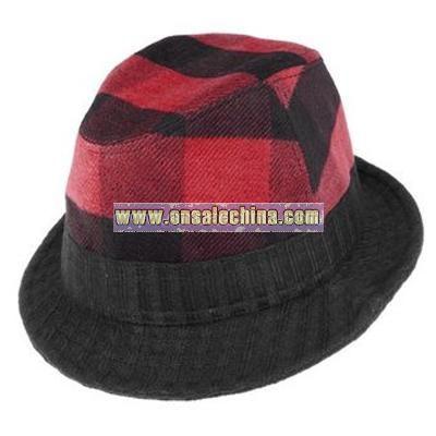 Plaid Attack Fedora hat