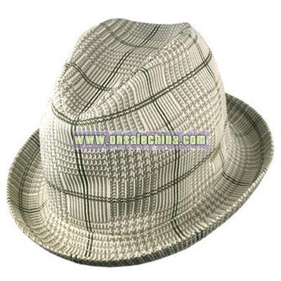 Tropic Plaid Player Fedora hat
