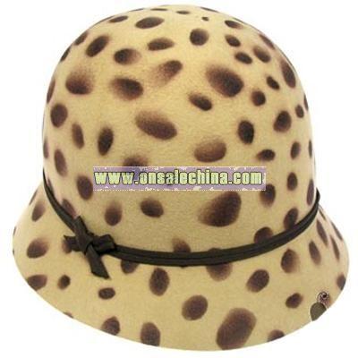 Leopard Cloche bucket hat