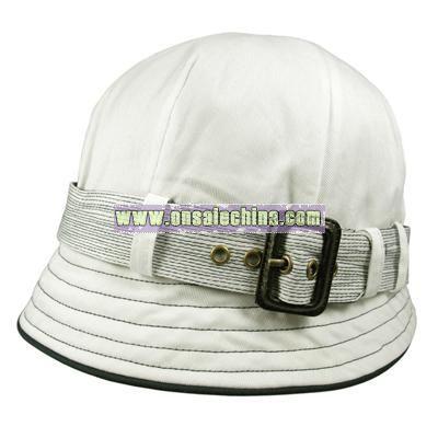 Belted Cloche bucket hat