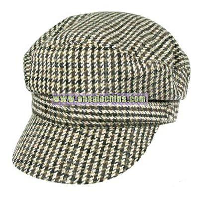 Houndstooth Fiddler cap