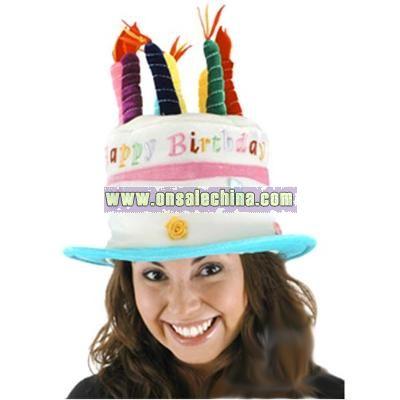 Rose Birthday Cake Hat-Adult