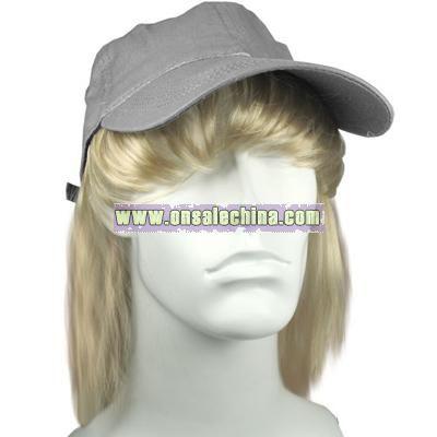 Grey Ball Cap with Bangs and Hair