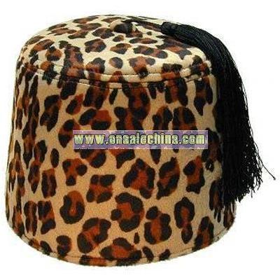 Leopard Fez hat