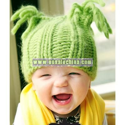 GREEN APPLE BABY HAT KNITTING PATTERN