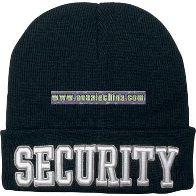Security Cap Security Logo Knit Watch Cap