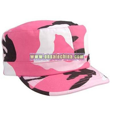 Pink Camo Caps Womens Camouflage Cap