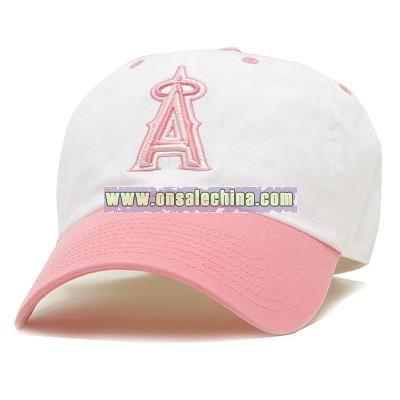 Women's White & Pink Two Tone Adjustable Cap