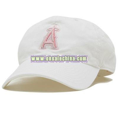 Women's White & Pink Adjustable Cap