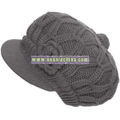 cable-knit cap