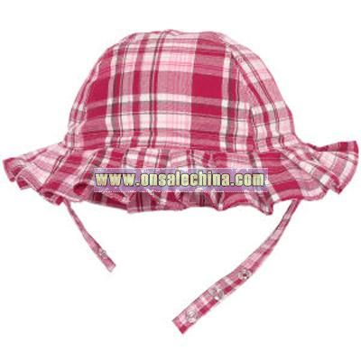 shimmer plaid hat