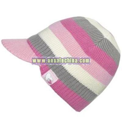 knit puffer hat