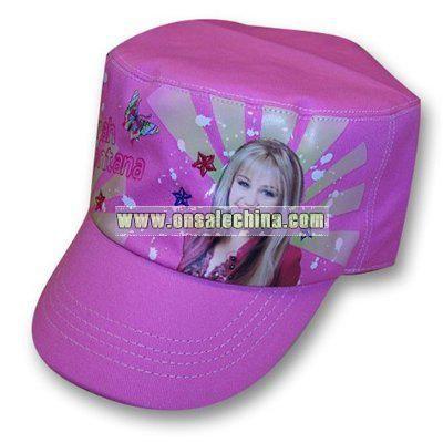 Disney Hannah Montana Girl's Pink Cadet Cap Hat