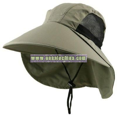 Large Bill Flap Cap-Olive