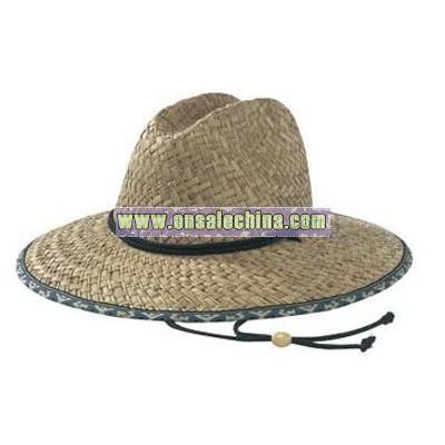 UPF 50+ Men's Straw Beach Sun Hat