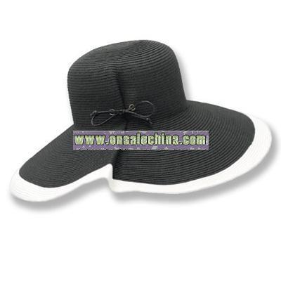 UPF 50+ Large Contrast Brim Sun Hat