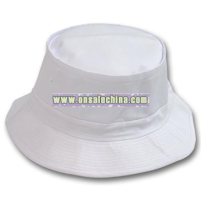 Bucket Fishing Hat - White L-XL