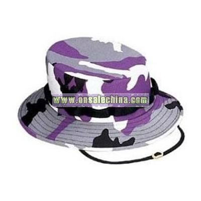 Purple Camouflage Jungle Hat