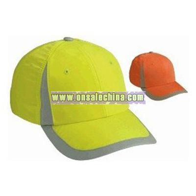Reflective 6 Panel Cap with Pre-Curved Undervisor