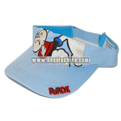 New Popeye The Sailor Man Sun Visor - Lt Blue