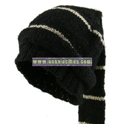 Hemp and Wool Ski Cap - Tassle