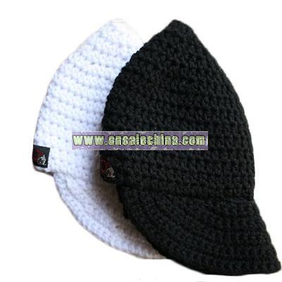 Black and White Crochet Caps